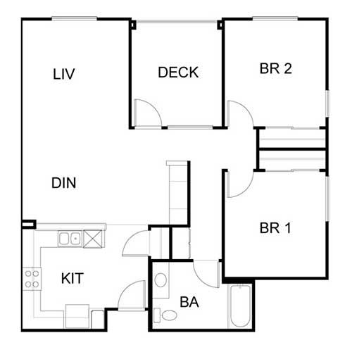 Two B Floor plan
